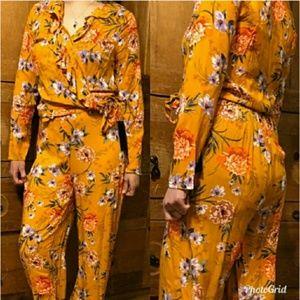 LAST CHANCE 2pc Floral Wide Leg Set